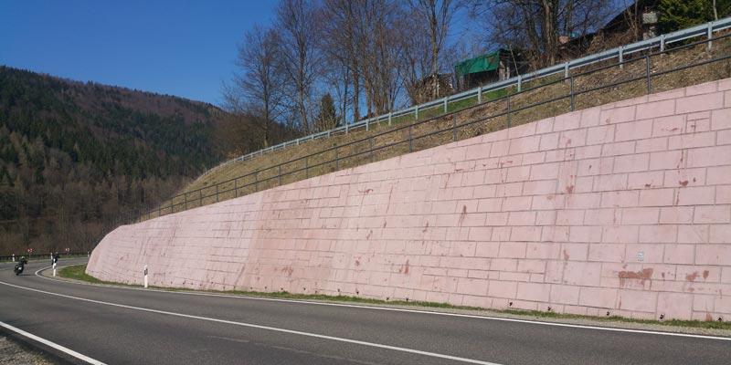 Support wall Buchenkurve